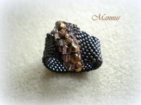Bronz peyote gyűrű 2