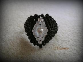 Fekete peyote gyűrű 1